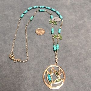 NWT Silpada turquoise/howlite/seed beads necklace